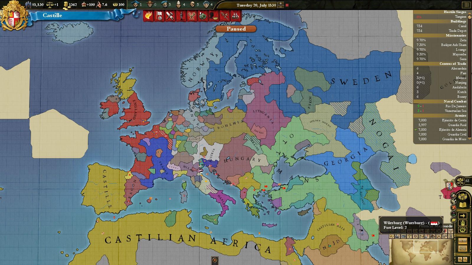 Europa Universalis 3 - Alternate History