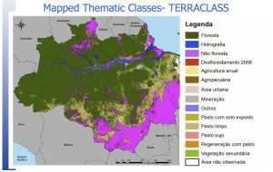 INPE Image of the Amazon by End Use