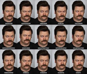 From NBC. Admit it, you'd rather look at Nick Offerman than Donald Trump. Which is good. Because usage rights.