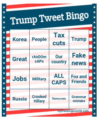 (The ultimate) Trump Tweet Bingo